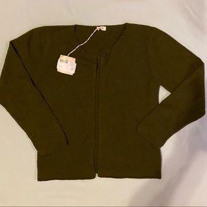 NWT $116 Ketiketa 12 Wool Minimal Cardigan Sweater